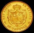 London Coins : A165 : Lot 2280 : Spain 25 Pesetas Gold 1885 (18-85) MS-M KM#687 VF cleaned, one of the key dates in the series and se...