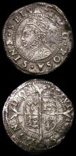 London Coins : A165 : Lot 2394 : Elizabeth I (3) Sixpences (2) 1567 Bust 4B S.2562 mintmark Coronet Near Fine, Sixth Issue 1594 ELIZA...