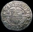 London Coins : A165 : Lot 2416 : Halfgroat Henry VIII Canterbury Mint, Archbishop Warham, WA beside shield S.2343 mintmark Cross Pato...