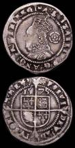 London Coins : A165 : Lot 2462 : Shilling Elizabeth I Second Issue S.2555 mintmark Cross Crosslet Good Fine/Fine, Threepence Elizabet...