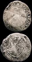 London Coins : A165 : Lot 2484 : Sixpences Charles I (2) Group D, Fourth Bust type 3a, with falling lace collar, no inner circles S.2...