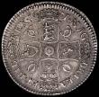 London Coins : A165 : Lot 2498 : Crown 1671 Third Bust VICESIMO TERTIO ESC 43, Bull 386, VF with attractive grey toning and a few sca...