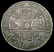 London Coins : A165 : Lot 2724 : Halfcrown 1713 Roses and Plumes DVODECIMO ESC 583, Bull 1375 NVF once cleaned now retoning