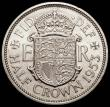 London Coins : A165 : Lot 2764 : Halfcrown 1953 Proof, Obverse 1 Reverse A. Obverse 1 with the weakly struck first portrait, I of DEI...