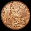 London Coins : A165 : Lot 2837 : Penny 1860 Toothed Border, N over sideways N in ONE, Gouby BP1860JA, Satin 11, UNC or near so and lu...