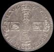 London Coins : A165 : Lot 2891 : Sixpence 1697 Third Bust, Later Harp, Large Crowns, GVLIEIMVS error ESC 1566C, Bull 1237, rated R4 b...