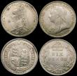 London Coins : A165 : Lot 2905 : Sixpences (4) 1883 ESC 1744, Bull 3255 UNC with hints of golden tone, 1887 Young Head ESC 1750, Bull...