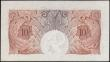 London Coins : A165 : Lot 304 : Ten Shillings Mahon, B210 Red/Brown issue 1928, series W06 429600, GEF looks better