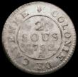 London Coins : A165 : Lot 3619 : French Guiana - Colony of Cayenne 2 Sous 1782A KM#1 EF with some weakness of strike in places