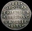 London Coins : A165 : Lot 3623 : German States - Prussia 3 Groscher 1535 MB#5.2 Good Fine/Fine