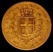 London Coins : A165 : Lot 3706 : Italian States - Sardinia 10 Lire Gold 1839 F//P KM#136.1 Fine, scarce with a mintage of just 2237 p...