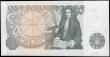London Coins : A165 : Lot 452 : One Pound QE2 pictorial type and Sir Isaac Newton, Page B340 issued 1978, first run series A01N 6929...