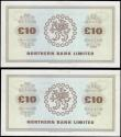 London Coins : A165 : Lot 681 : Northern Ireland Northern Bank Limited £10 (2) a consecutive pair dated 15 June 1988 series E8...