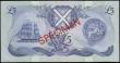 London Coins : A165 : Lot 760 : Scotland Bank of Scotland £5 SPECIMEN dated 6th November 1991 series EK000000, signed Pattullo...