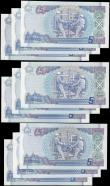 London Coins : A165 : Lot 782 : Scotland Bank of Scotland 5 Pounds 300th year Anniversary of Bank of Scotland in 1995 issues (9) inc...