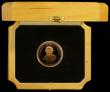 London Coins : A166 : Lot 1060 : Tristan Da Cunha Five Pounds 2007 Gold Proof with 5 diamonds handset into the tiara, FDC in London M...