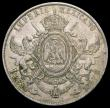 London Coins : A166 : Lot 1157 : Mexico One Peso 1867Mo KM#388.1 About EF with a small stain on the obverse, a scarce issue only prod...