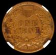 London Coins : A166 : Lot 1219 : USA Cent 1909S Indian Head Breen 2051 in an NGC holder and graded AU53 BN, Rare