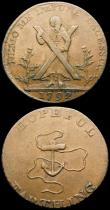 London Coins : A166 : Lot 1273 : Halfpenny 18th Century Warwickshire - Birmingham Kempson's Buildings 1796 Navigation Office DH2...