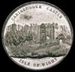 London Coins : A166 : Lot 1292 : Carisbrooke Castle - Isle of Wight 37mm diameter, undated, in white metal by T.R.Pinches, London. Ob...