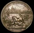 London Coins : A166 : Lot 1326 : Prince James III - The Only Safegaurd 1721 50mm diameter in bronze by O.Hamerani Eimer 493. Obverse ...