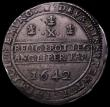 London Coins : A166 : Lot 1467 : Half Pound Charles I 1642 Oxford Mint, Shrewsbury horseman over arms, Oxford plume behind, double st...
