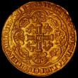 London Coins : A166 : Lot 1487 : Noble Edward III Fourth Coinage, Treaty Period, Calais Mint, without flag, FRANC omitted, with curul...