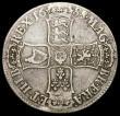 London Coins : A166 : Lot 1516 : Crown 1688 8 over 7 ESC 81, Bull 747 VG the reverse slightly better, unevenly toned