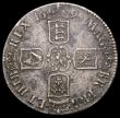 London Coins : A166 : Lot 1520 : Crown 1695 OCTAVO ESC 87, Bull 991 GVF toned with some surface corrosion