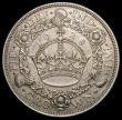 London Coins : A166 : Lot 1558 : Crown 1928 ESC 368, Bull 3633 GEF with a light and original tone, the reverse well struck showing th...