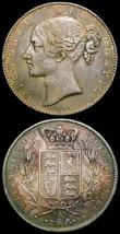 London Coins : A166 : Lot 1581 : Crowns (2) 1887 ESC 296, Bull 2585 EF/GEF and attractively toned, the fields reflective with some co...