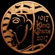 London Coins : A166 : Lot 1609 : Five Pound Crown 2017 1000th Anniversary of the Coronation of King Canute Gold Proof S.L50 FDC uncas...