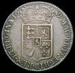 London Coins : A166 : Lot 1730 : Halfcrown 1689 First Shield, No Frosting, with pearls ESC 507, Bull 835 NVF lightly toning