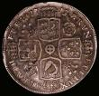 London Coins : A166 : Lot 1744 : Halfcrown 1715 Roses and Plumes ESC 587, Bull 1550 Fine/Good Fine, the reverse with grey tone and wi...