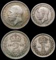 London Coins : A166 : Lot 1923 : Maundy Set 1932 ESC 2549, Bull 3993 GEF to A/UNC with a hint of golden tone, the Threepence and Penn...