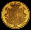 London Coins : A166 : Lot 2081 : Sovereign 1830 William IV Gold Pattern by W.Wyon after Chantrey's Model. Coarse hair and with f...