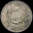 London Coins : A166 : Lot 2788 : Guatemala Peso 1894 Countermarked Issue on Peru Sol KM#224 Host coin 1891TF Countermark and host coi...