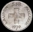 London Coins : A166 : Lot 2897 : Switzerland 5 Francs 1939B Commemorative Coinage, 600th Anniversary of the Battle of Laupen KM#42 UN...