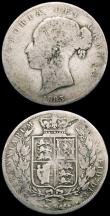 London Coins : A166 : Lot 2937 : Crown 1847 Young Head ESC 286, Bull 2567 VG/About Fine, Halfcrown 1883 ESC 711, Bull 2762 NVG