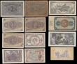 London Coins : A166 : Lot 421 : Spain (12) in mixed grades comprising 1 Peseta Pick 94 dated 1937 serial number B4701104, 5 Pesetas ...