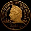 London Coins : A166 : Lot 616 : Five Pounds 2000 Gold Proof Queen Mother Centenary Year Crown FDC uncased