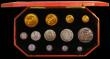 London Coins : A166 : Lot 673 : Proof Set 1902 Long Matt Set 13 coins Five Pounds, Two Pounds, Sovereign, Half Sovereign, Crown, Hal...