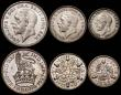 London Coins : A166 : Lot 675 : Proof Set 1927 (6 coins) Crown to Silver Threepence nFDC-FDC, the Sixpence with a small stain on the...