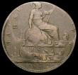London Coins : A167 : Lot 1844 : Mint Error - Mis-Strike Halfpenny 1872 obverse and reverse both double struck, two dates visible aro...