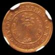 London Coins : A167 : Lot 1899 : Ceylon Quarter Cent 1890 VIP Proof/Proof of record struck in copper KM#90 in an NGC holder and grade...