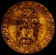 London Coins : A167 : Lot 1948 : Hungary Two Ducats Gold 1646KB Kormoczbanya mint KM#128, Friedberg 108, Obverse: Ferdinand II standi...
