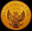 London Coins : A167 : Lot 1953 : Indonesia 100,000 Rupiah Gold 1974 World Conservation Series Obverse: National Emblem of Indonesia, ...
