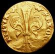 London Coins : A167 : Lot 1967 : Italy - Florence Gold Florin undated, Republic, Trefoil in left field, Friedberg 276 undated (1422-1...
