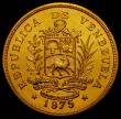London Coins : A167 : Lot 2059 : Venezuela 1000 Bolivares Gold 1975 World Conservation Series Obverse: National Arms above Ribbon, Re...