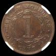 London Coins : A167 : Lot 2296 : British Honduras Cent 1926 KM#19 in an NGC holder and graded AU58 BN